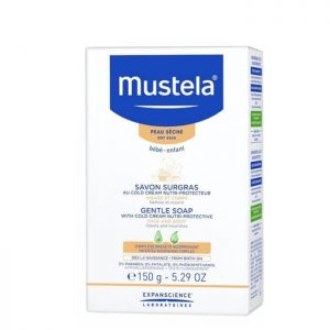 Mustela cold cream nutri-protective gentle soap for baby dry skin 150g